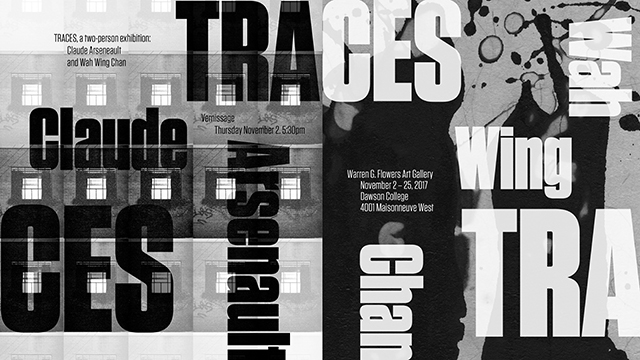 email invite to Traces exhibition