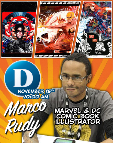 Q & A with the Marvel/DC Comic book artist Marco Rudy: Illustrator of Justice League, Spider-Man & more!