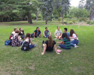 Group outside circle