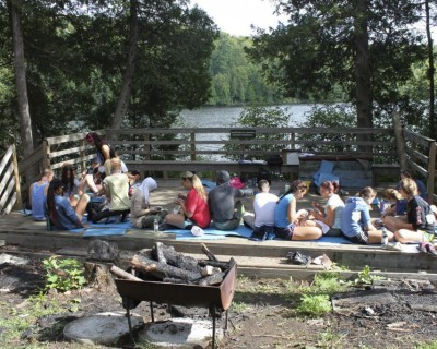 Students at an Outdoor Education camp