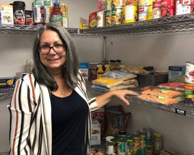 Yvonne in Food Bank