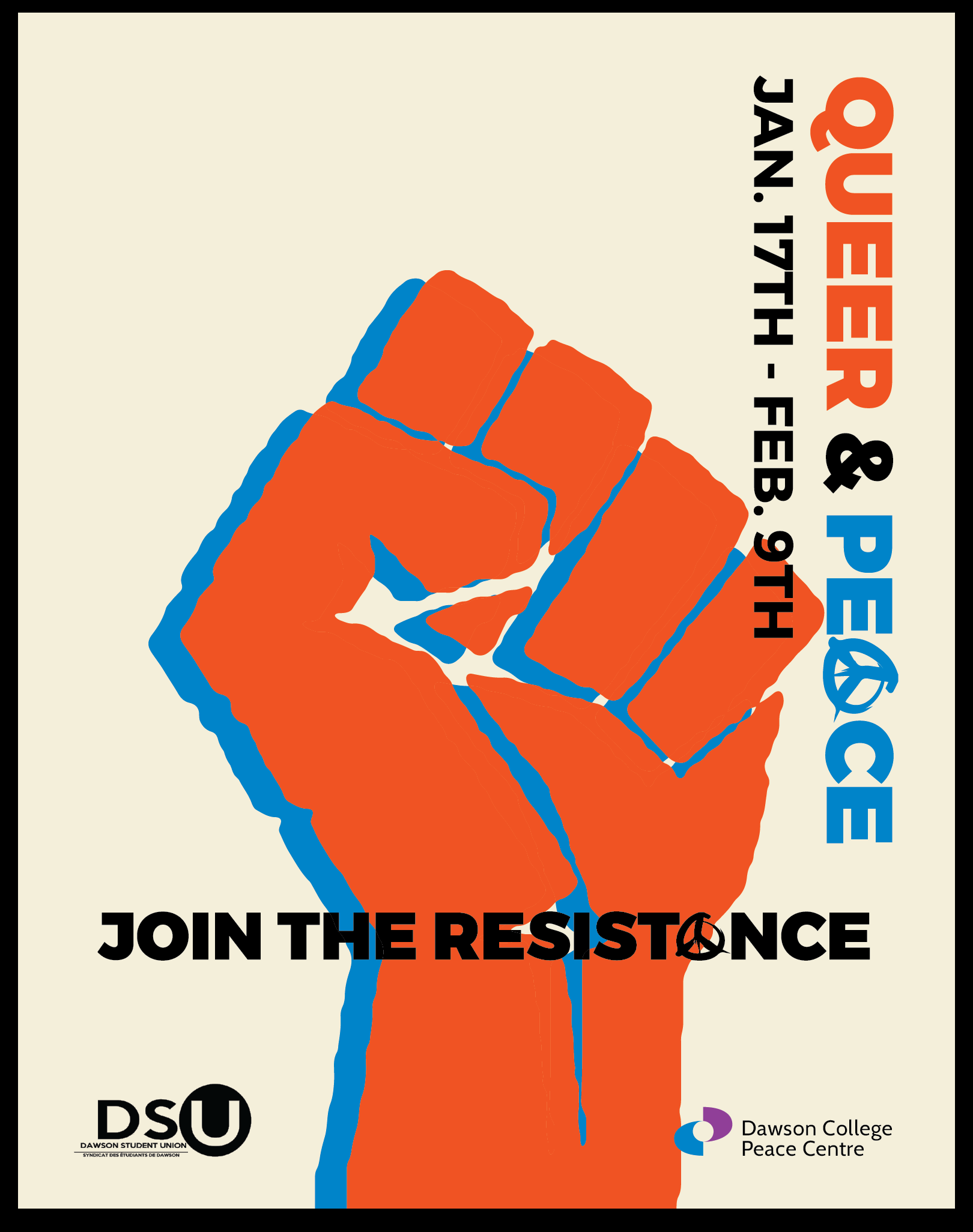 Main poster Queer & Peace