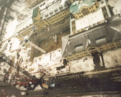 Construction of Phase IV (1996) - F & H wings