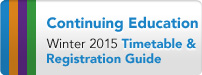 Continuing Education Timetable & Registration Guide