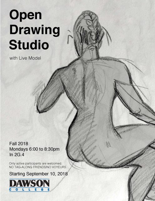 Open Drawing Studio Dawson f2018 Poster