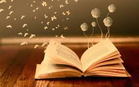 Livre ouvert et papillons