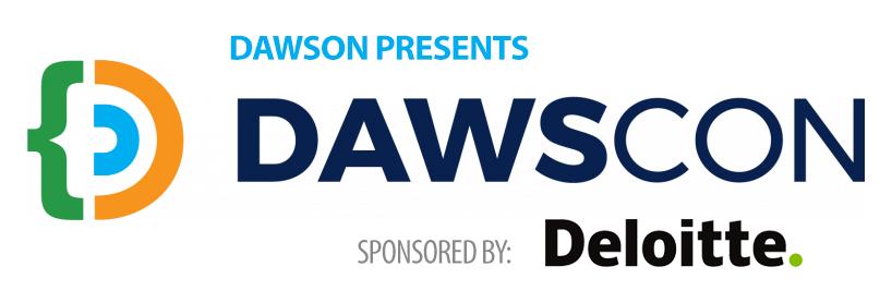 Dawscon Logo Sponsored by Deloitte